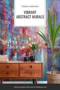 Add a stunning abstract wall mural in any room and make it stand out! Discover our large collection of wall murals and our step by step tutorial! #wallmural #accentwall #stepbystep #tutorial #wallpaper #abstract #diy Simply choose any one of your favourite mural designs and select peel and stick wallpaper. Discover more from Wallsauce! Home decor apartment renting diy ideas. Photo Wallpaper, Peel And Stick Wallpaper, Wall Wallpaper, Oriental Wallpaper, Colorful Wallpaper, Wallpaper Companies, Inspirational Wallpapers, Arte Popular, Designer Wallpaper