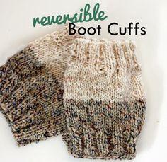 Two-Toned Boot Cuffs | AllFreeKnitting.com