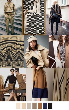 TANLINES - tan / black / cream / navy color palette
