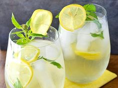 Agave Lemon Basil & Ginger Iced Tea by Sage Recipes Refreshing Drinks, Yummy Drinks, Healthy Drinks, Basil Tea, Lemon Basil, Lemon Lime, Sage Recipes, Iced Tea Recipes, Smoothies
