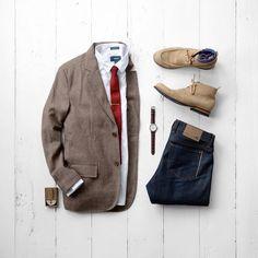 Blazer:Jachs NY //Shirt:Taylrd Clothing //Tie:Ties.com//Denim:FNL Denim (similar) //Shoes:Sitrana (similar) //Socks:Ties.com //Tie Bar:Ties.com //Watch:Atlantis Wrist Watch //Cologne:Bawston & Tucker