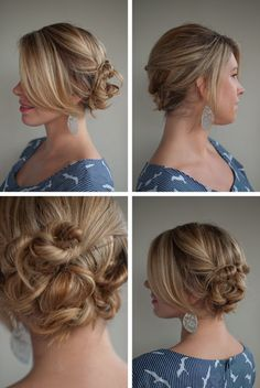 Twist and pin to the side.  Neat website full of cool hairstyles