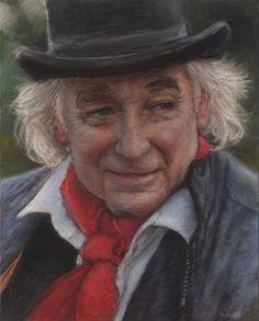 """Portrait pastel sec - portrait soft pastel -Jean-Francois Le Saint - """"Le maître"""" 24x30cm"""