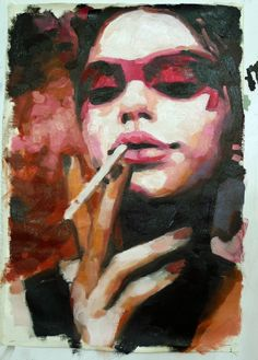 """""""Red eye"""" by Thomas Saliot #contemporary #painting"""