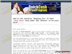 awesome Quick Cash Grant Program