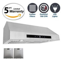 Cosmo 30 in. 760 CFM Ducted Under Cabinet Range Hood with LCD Touch Control Panel, Kitchen Vent Cooking Fan Range Hood with Permanent Filters and LED Lighting Kitchen Vent, Kitchen Exhaust, Bathroom Exhaust Fan, Diy Kitchen Cabinets, Kitchen Decor, Range Hood Reviews, Range Hoods, Cosmo, Wall Mount Range Hood