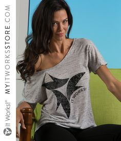 Lace Print White/Grey Marble Flowy Tee // Step out blitzing in a tee that is anything but ordinary! The unique raised print will have you seeing It Works! in a new lace-filled light. The relaxed tee makes a big impact and is sure to get you compliments.