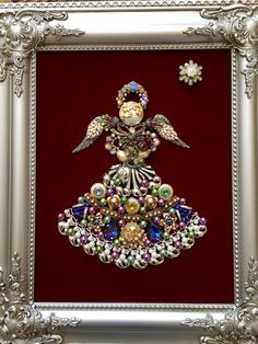 crafts with old costume jewelry - Google Search