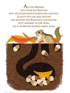 Eichhörnchen Gedicht Kindergarten Erzieherin Kita Kinder Erziehung Herbst Reim