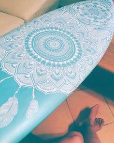 Retro mandala surfboard Kelsiemunroart.bigcartel.com