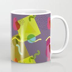 Neo Memphis Fun - Purple Coffee Mug by squibble https://society6.com/product/neo-memphis-fun-purple_mug