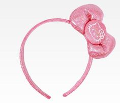 Hello Kitty Satin Ribbon Kids Headband: Pink