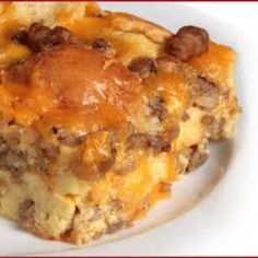 Sausage and Cream Cheese Breakfast Casserole Recipe | Just A Pinch Recipes