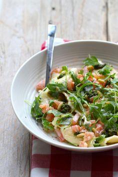 Lekker en Snel - ravioli met rucola, tomaat en slagroom - Lekker en Simpel
