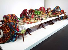 Love the lush textiles by Yinka Shonibare Mbe