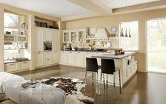 Cucina Stosa modello Ontario in finitura laccato magnolia ...
