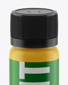 Matt Plastic Sport Nutrition Bottle Mockup - Front View (High-Angle Shot). Preview (Close-Up)