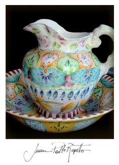 pintura en porcelana, indian, patisserie, deco