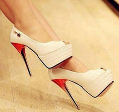 Love the 'wine glass stem' heels