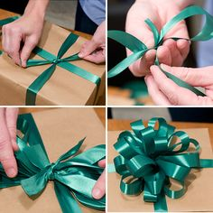Tying a perfect  gift bow