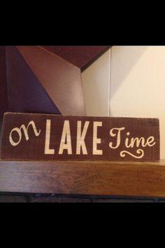 Lake time wood sign custom pallet - On Lake Time by MittenGirlzDesigns on Etsy