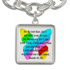 PRETTY BUTTERFLY ISAIAH 41:10 DESIGN BRACELETSInspiring and uplifting Christian Jewelry.  http://www.zazzle.com/myheavenlyblessings/jewelry?dp=252880112189019707&rf=238246180177746410 #ChristianJewelry #Christiangifts #Scripturejewelry #Scripturegifts #Bornagain #JesusisLord