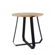 Puik Art SHUNAN Side Table - Ash Wood Veneer with Black Legs