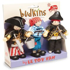 Set 3 mu�ecos de madera Piratas - Le Toy Van