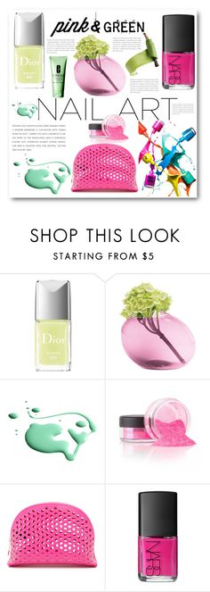 """""""Untitled #597"""" by angelstar92 ❤ liked on Polyvore featuring beauty, Christian Dior, Dot & Bo, RGB, Loeffler Randall, NARS Cosmetics, Clinique, Pink and nail"""