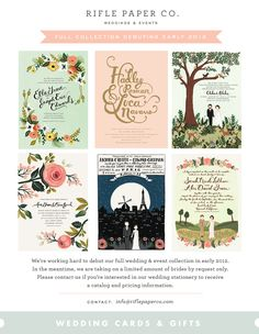 """Rifle Paper Co. is a boutique stationery brand and design studio based in Winter Park, Florida created by Anna Bond together with her husband Nathan. Our products feature Anna's whimsical designs which often include hand-painted illustrations and lettering to compose a style that feels both nostalgic and timeless."""