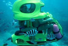 Explore Bali's oceans on a cool Underwater Scooter http://voyag.in/explore-bali-on-underwater-scooters