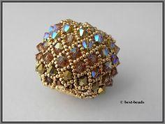 Best-Beads Diy Beaded Rings, Beaded Bracelets, Beaded Bead, Beaded Jewelry Patterns, Beading Patterns, Diy Collier, Beads And Wire, Beading Tutorials, Bead Art