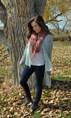 layers for fall. love my cardigans and denim.
