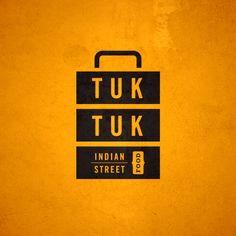TUK TUK Tiffin box inspired logo Branding, India, Indian Street Food, Typography, Lettering, Food, Restaurant, Edinburgh,