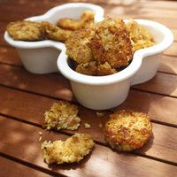 Bacon-Rice Patties | Every Day with Rachael Ray Recipes- Pups love these crispy, bacon-y bites!