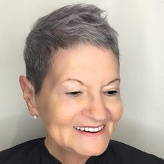 extra short pixie for older ladies