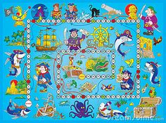 Board game a€? The high-resolution table game with the characters of , Pirate Games, Pirate Theme, School Themes, Free Illustrations, Kids Decor, School Projects, Wall Murals, Board Games, Wallpaper