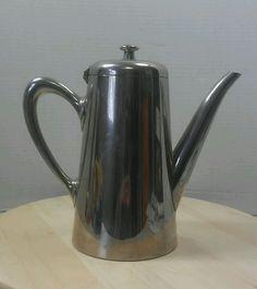 Vintage Aluminum Mirror Teapot Coffee Carafe