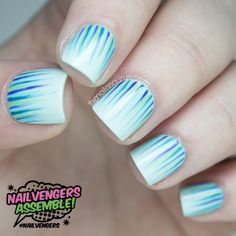 Mint Green Waterfall Nail Art   Nailvengers   The Nailasaurus UK  Nail Art Blog