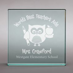 Give your favorite teacher this special personalized glass keepsake!