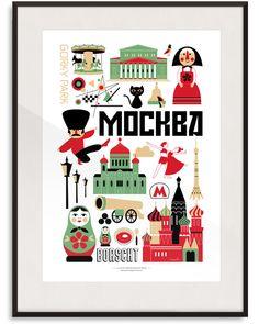 Moscow Print By Ingela P Arrhenius | Lagom Design