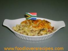 Baked Savoury Samp South African Recipes, Ethnic Recipes, Food Dishes, Side Dishes, Macaroni And Cheese, Delish, Dinner Recipes, Veggies, Healthy Eating