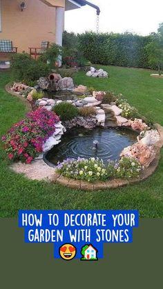 Front Yard Decor, Front Yard Landscaping, Landscaping Ideas, House Landscape, Landscape Design, Amazing Gardens, Beautiful Gardens, Brick Planter, Small Garden Design