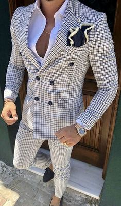 Check Men Suit Tailored Plaid Suits For Men, Mens Checkered Suit Gingham Tuxedo,. Check Men Suit Tailored Plaid Suits For Men, Mens Checkered Suit Gingham Tuxedo, Elegant Plaid Business Checkered Suit, Plaid Suit, Best Suits For Men, Cool Suits, Classy Suits, Suit For Men, Man Suit, Classy Style, Mode Costume