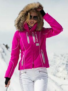 moya-tp fuchsia jacket with fur