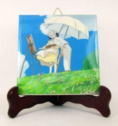 Studio Ghibli Art - The wind rises - collectible ceramic tile - Studio Ghibli gift - Studio Ghibli wall art - Ghibli anime - Ghibli Studio