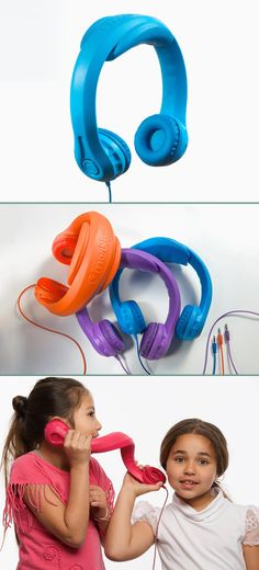 Marblue 'Headfoam' headphones are shatterproof and nearly indestructible. Designed for kids!