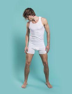 RVLT - men's fashion. Tank top and boxer brief, 95% organic cotton, 5% elastan.