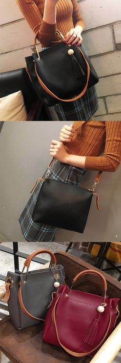 US$35.73+Free shipping. Made of Pu Leather, 3 colors: Black, Red, Gray. Size: 37x28x12cm/14.57x11.02x4.72''. You can hold the bag in your arm or on the shoulder.