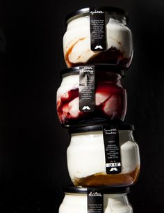 White Moustache produces some of the best small-batch yogurt you can find. But can you replicate the product at home? Yogurt Packaging, Dairy Packaging, Glass Packaging, Dessert Packaging, Honey Packaging, Food Packaging, Yogurt Brands, Making Yogurt, Cafe Food